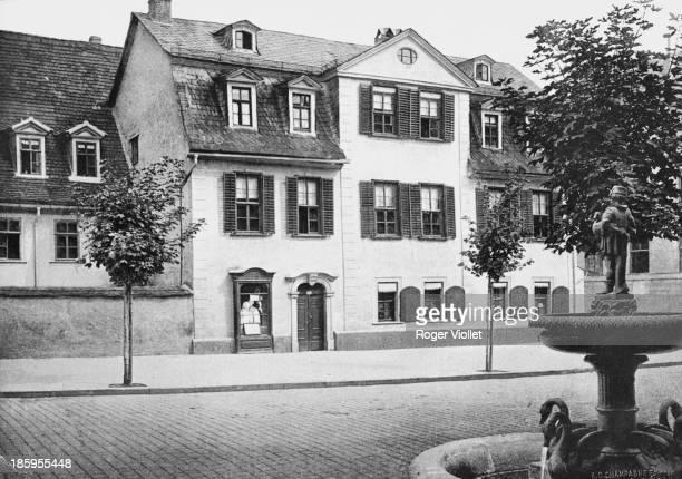 The house of Friedrich von Schiller German poet and dramatist Weimar circa 1900