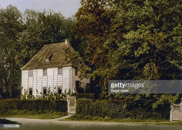 The house of Johann Wolfgang von Goethe German writer Weimar circa 1900