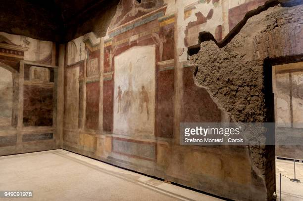 The house of Livia wife of Augustus on the Palatino Hill in the Ancient Roman Forum on April 20 2018 in Rome Italy Presented to the press the House...