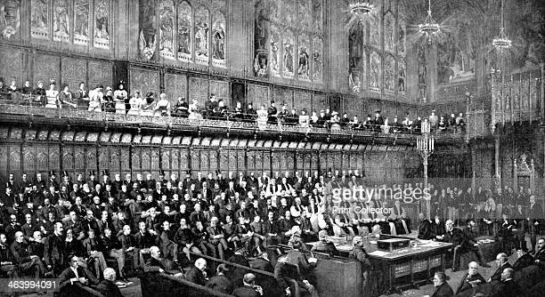 The House of Lords during the Home Rule Debate 1893 Print published in Parliament Past and Present by Arnold Wright and Philip Smith
