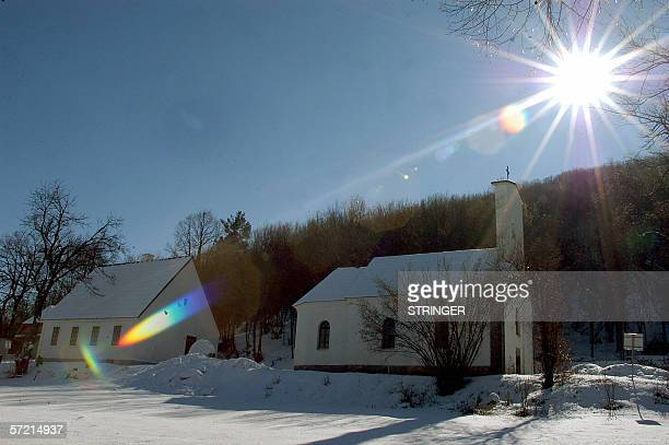 The house of Nikola Tesla is seen next to an Orthodox Chuch in Gospic, 10 February 2006. Tesla was an ethnic Serb who was born in a Croatian province...