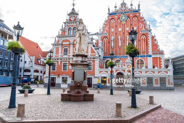 the house of the blackheads in riga - house of blackheads stock photos and pictures