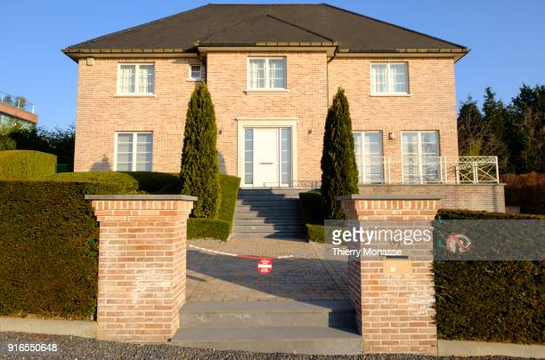 The house of the Exiled former Catalan leader Carles Puigdemont i Casamajó on February 9 2018 in Waterloo 15 Km south of Brussels Belgium