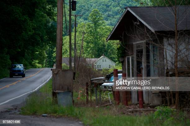 The House of the Lord Jesus church a Pentecostal serpent handlers church is seen in the distance in Squire West Virginia on May 27 2018 Pastor Chris...