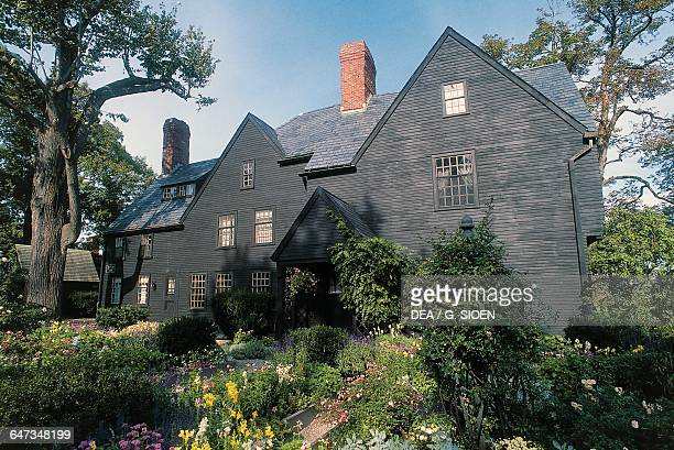 The house of the Seven Gables 17th century the mansion that gave the title to the novel by Nathaniel Hawthorne Salem Massachusetts United States of...