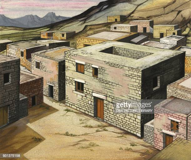 The house of the tyrant Greece drawing Greek civilization 600 BC