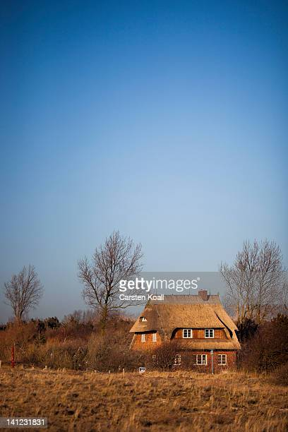 The house on the dyke owned by the family of Joachim Gauck stands on March 12 2012 at Wustrow Germany Gauck spent parts of his holidays in the house...