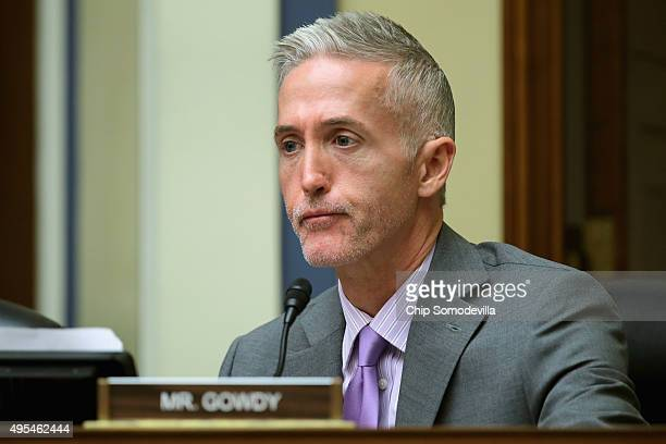 The House Oversight and Government Reform Committee's Select Committee on Benghazi Chairman Trey Gowdy sports the beginnings of a beard as he...
