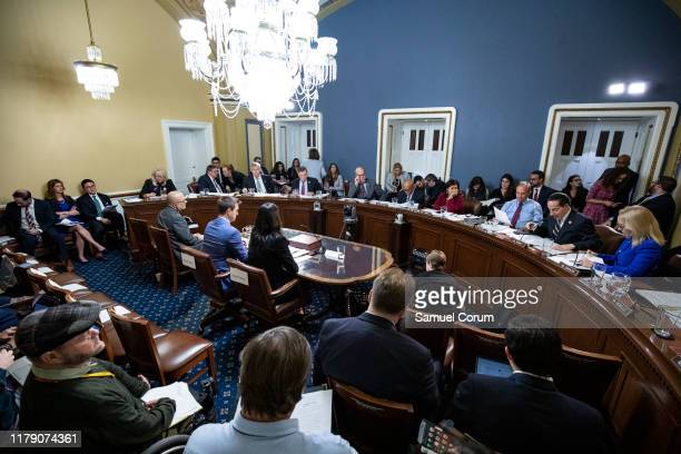 The House Rules Committee holds a full committee markup of House Resolution 660 at the US Capitol on October 30 2019 in Washington DC HR 660 directs...