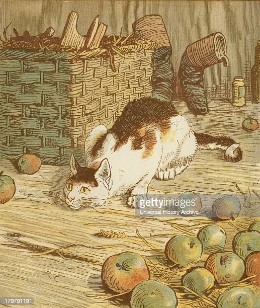 The House that Jack Built'' accumulative nursery rhyme The cat that ate the rat that ate the malt Illustration by Randolph Caldecott