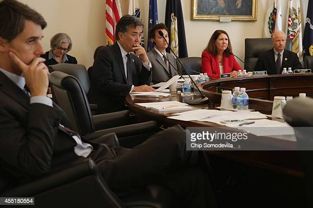 The House Veterans' Affairs Committee's Oversight and Investigations Subcommittee members Rep Beto O'Rourke Rep Mark Takano ranking member Rep Ann...