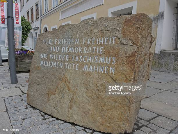 The house where Adolf Hitler was born is seen in Braunau am Inn Austria on April 10 2016 The Austrian government wants to seize the house where Adolf...