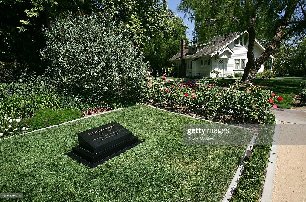 The house where President Richard Nixon was born and his grave are seen at the Richard Nixon Library & Birthplace on May 31, 2005 in Yorba Linda, California. A Vanity Fair magazine article reports that a retired FBI official, Mark Felt, was the 'Deep Throat' source who spoke to two Washington Post reporters about the Watergate scandal that forced former president Richard Nixon to resign in 1974.