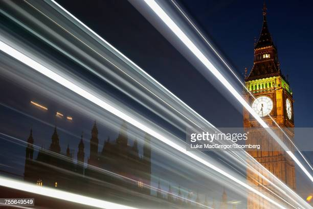 the houses of parliament and elizabeth tower, also known as big ben, in london.  - big mac stock pictures, royalty-free photos & images