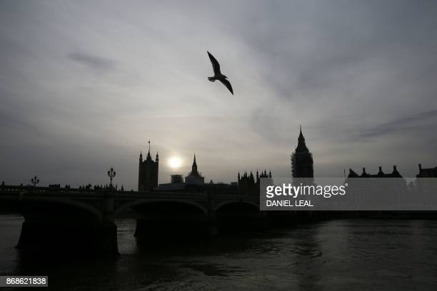 The Houses of Parliament are seen next to the River Thames in central London on October 31 2017 Prime Minister Theresa May came under pressure on...