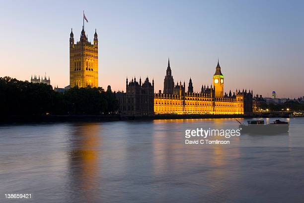 The Houses of Parliament at dusk, London