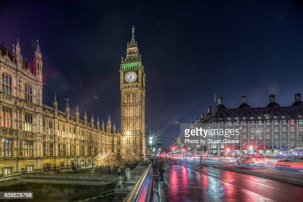 The Houses of Parliament (London) at night