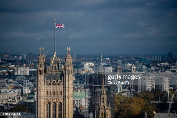 The Houses of Parliament on the banks of the Thames on November 7 2019 in London England