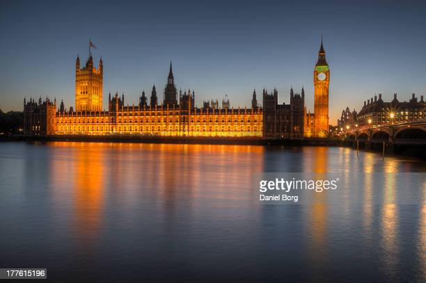 CONTENT] The Houses of Parliament shot during blue hour with a long exposure to help smooth out the water
