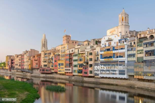 The Houses on the River Onyarat sunset- Gerona- Catalonia- Spain