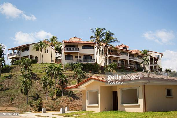 The housing complex where retired professional boxer Donny Lalonde lived when he declared bankruptcy in Canada, near Tamarindo, Costa Rica.