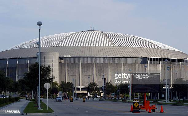 The Houston Astrodome in Houston Texas prepares to accept some 2500030000 refugees from Hurricane Katrina who were staying in the New Orleans...