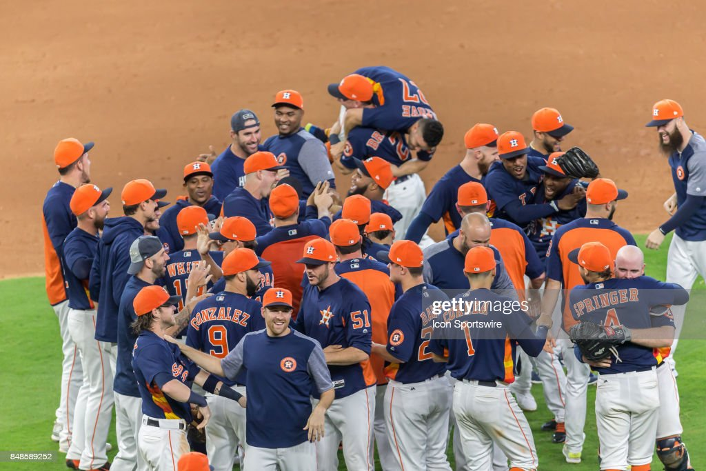 The Houston Astros become the 2017 AL West champions after