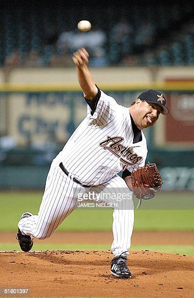 The Houston Astros' Kent Bottenfield throws a pitch in the first inning of the 07 May game against the Philadephia Phillies in Houston's Enron Field...