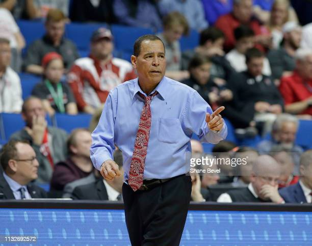 The Houston Cougars head coach Kelvin Sampson in the second round of the 2019 NCAA Men's Basketball Tournament held at BOK Center on March 24 2019 in...