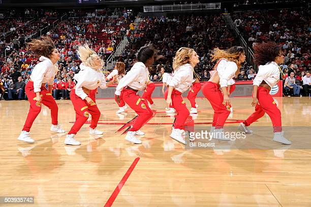 The Houston Rockets dance team performs during the game against the Utah Jazz on January 7 2016 at the Toyota Center in Houston Texas NOTE TO USER...