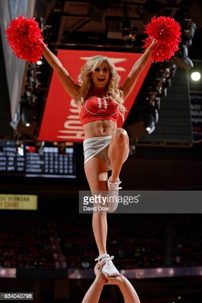 The Houston Rockets dance team performs during the game against the Chicago Bulls on February 3 2017 at the Toyota Center in Houston Texas NOTE TO...