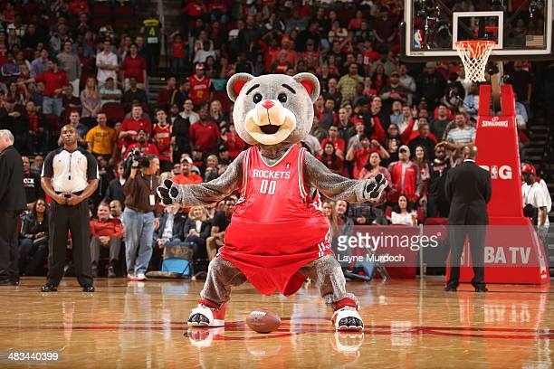 The Houston Rockets mascot performs for fans during the game between the Houston Rockets and the Indiana Pacers on March 7 2014 at the Toyota Center...