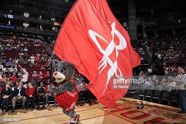 The Houston Rockets mascot Turbo runs out before the game against the Denver Nuggets on January 23 2013 at the Toyota Center in Houston Texas NOTE TO...