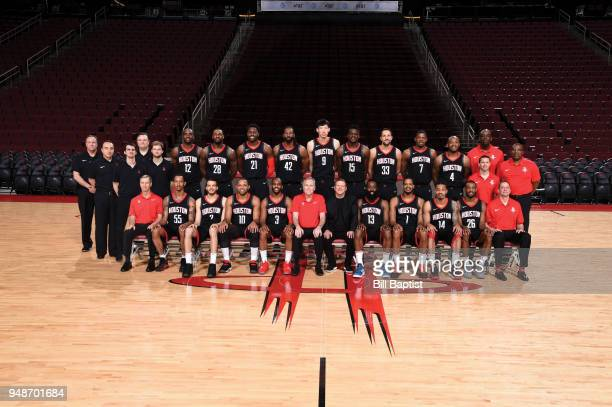The Houston Rockets poses for a team photo on April 6 2018 at the Toyota Center in Houston Texas NOTE TO USER User expressly acknowledges and agrees...