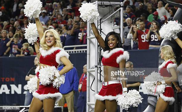 The Houston Texans cheerleaders perform during the game against the Cincinnati Bengals at NRG Stadium on December 24 2016 in Houston Texas