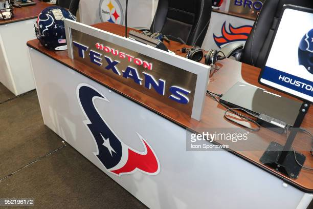 The Houston Texans Draft Table prior to the second and third rounds of the 2018 NFL Draft on April 27 at ATT Stadium in Arlington TX