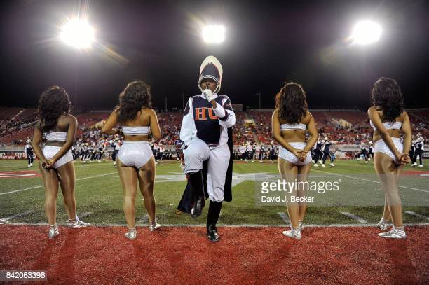 The Howard University 'Showtime' Marching Band performs during halftime at a footbal game against the UNLV Rebels at Sam Boyd Stadium on September 2...
