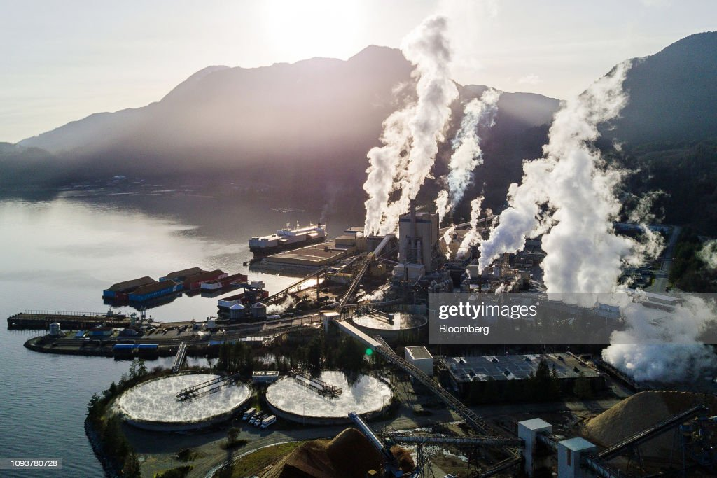 The Howe Sound Pulp & Paper Corp  facility is seen in an