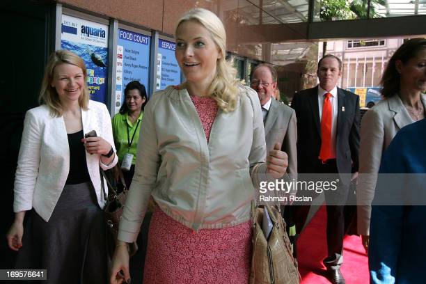 The HRH Crown Princess MetteMarit of Norway arrives for The Women Deliver Conference on May 28 2013 in Kuala Lumpur Malaysia The Women Deliver 2013...