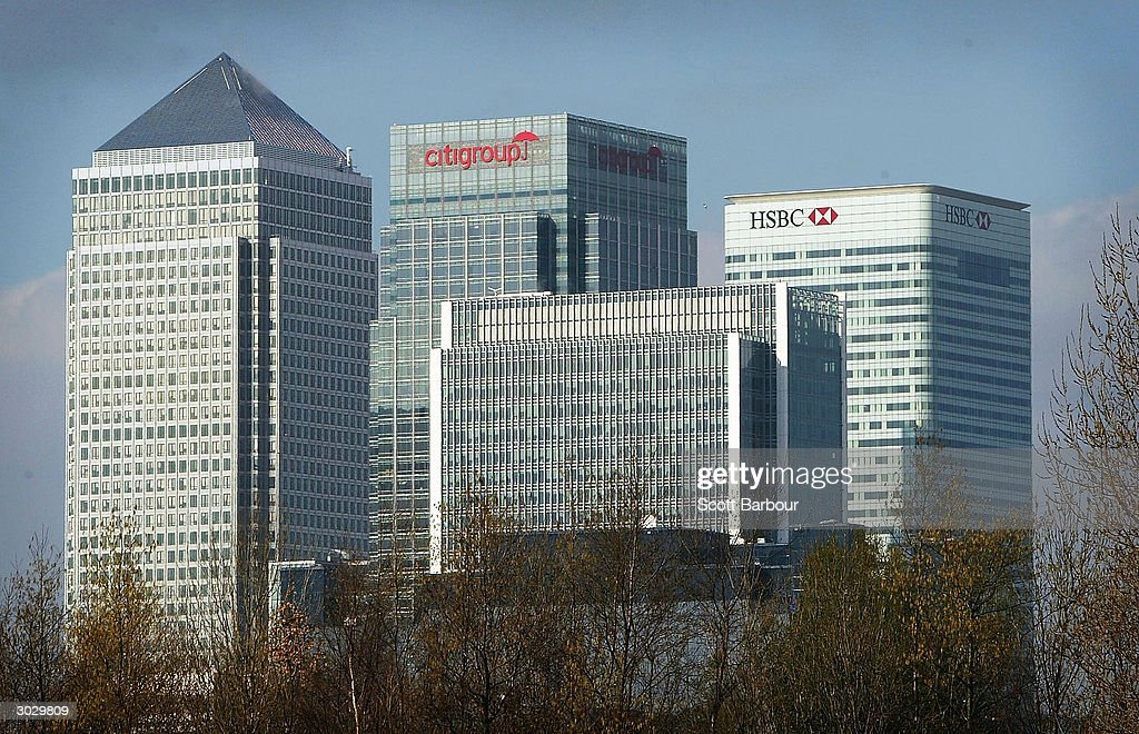 The HSBC building (R) is seen at Canary Wharf March 1, 2004 in London, England. The London-based bank, which operates in 79 countries, gave an upbeat tone for the global economy, including its key Hong Kong market by reporting a record annual pre-tax profit of ?7.7bn (US$14.4).