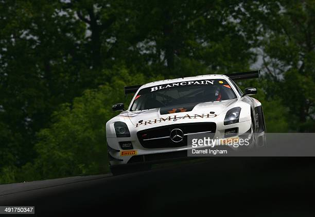 The HTP Motorsport Mercedes SLS AMG GT3 driven by Maximlian Buhk and Maximilian Gotz of Germany during practice for the Blancpain GT Sprint Series...