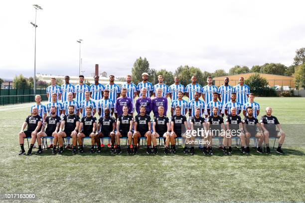 The Huddersfield Town first team squad Eric Durm Adama Diakhaby Christopher Schindler Terence Kongolo Steve Mounié Laurent Depoitre Philip Billing...