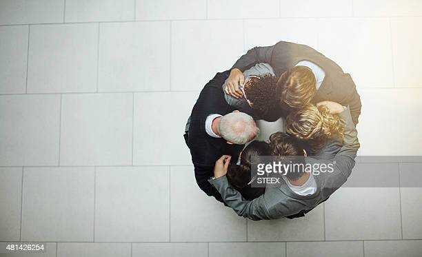 The huddle before work