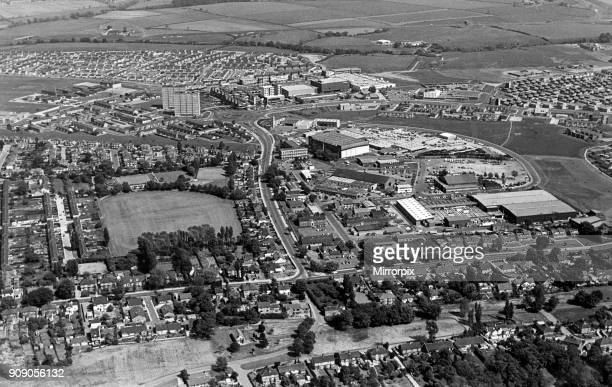 The huddled rooftops the sprawling streets green trees and multistorey flats long roads and wide open parks They all add up to a panorama of Thornaby...