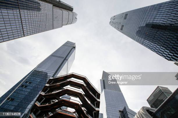 The Hudson Yards development stands on the West Side of Midtown Manhattan on its opening day for phase one of the project March 15 2019 in New York...