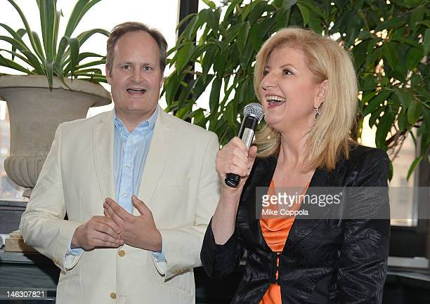 The Huffington Post executive editor Tim O'Brien and author/columnist Arianna Huffington speak at the launch party for Huffington. The new weekly...