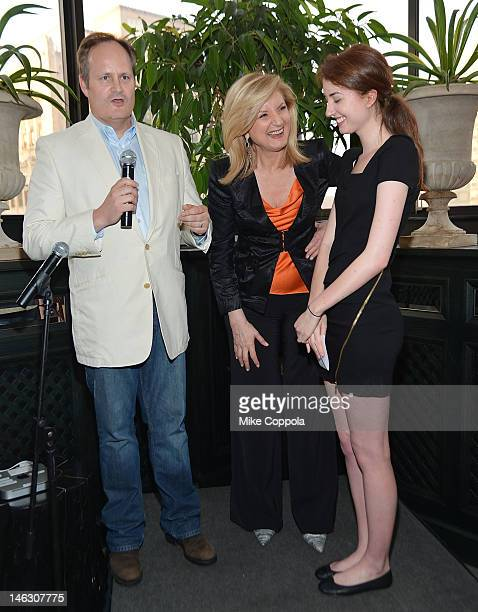 The Huffington Post executive editor Tim O'Brien, author/columnist Arianna Huffington, and Isabella Huffington speak at the launch party for...