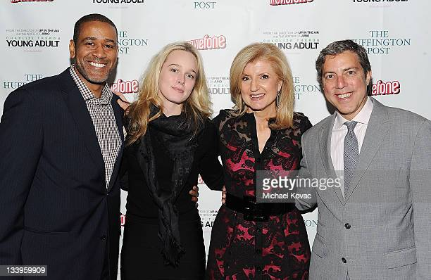 The Huffington Post's Terry City Lucy Blodgett Arianna Huffington and Roy Sekoff attend the AOL Young Adult Screening on November 22 2011 in Santa...