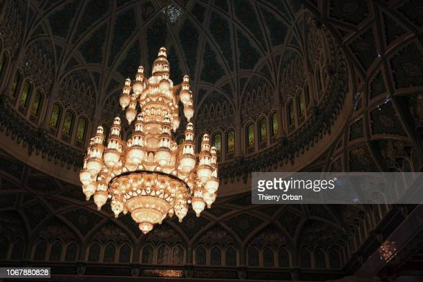 the huge eightton chandelier in the big mosque This crystal chandelier was made in Austrian November 14 2018 in Muscate November 14 2018 in Muscate...