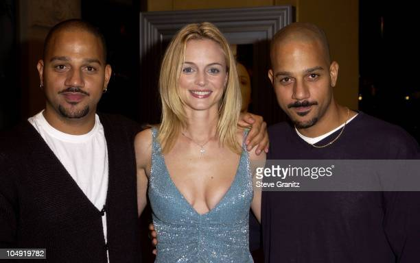 The Hughes Brothers and Heather Graham during 'From Hell' Los Angeles Premiere at Mann Village Theatre in Westwood California United States